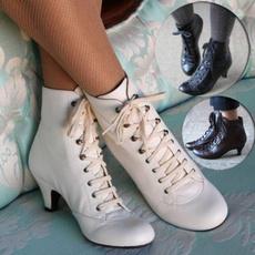 Vintage, Fashion, Lace, Boots