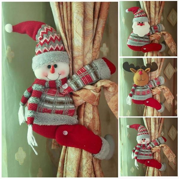 curtaindecorative, Christmas, doll, Santa Claus
