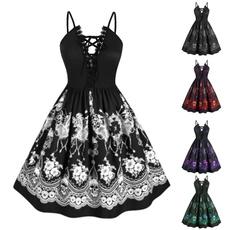 Plus Size, Lace, Dress, slim
