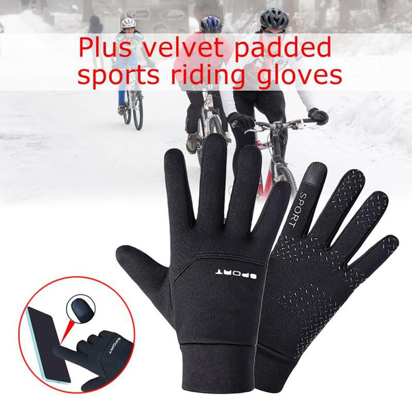 good service wide range hot new products Football Gloves Boys Kids Waterproof Thermal Grip Outfield Field Player  Sports