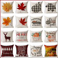 christmaspillow, thanksgivingdecor, Home Decor, sofacushioncover