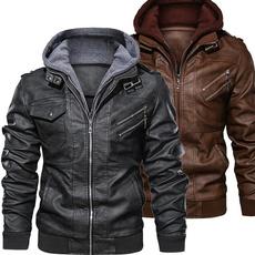 bikerjacket, Plus Size, zipperjacket, Coat