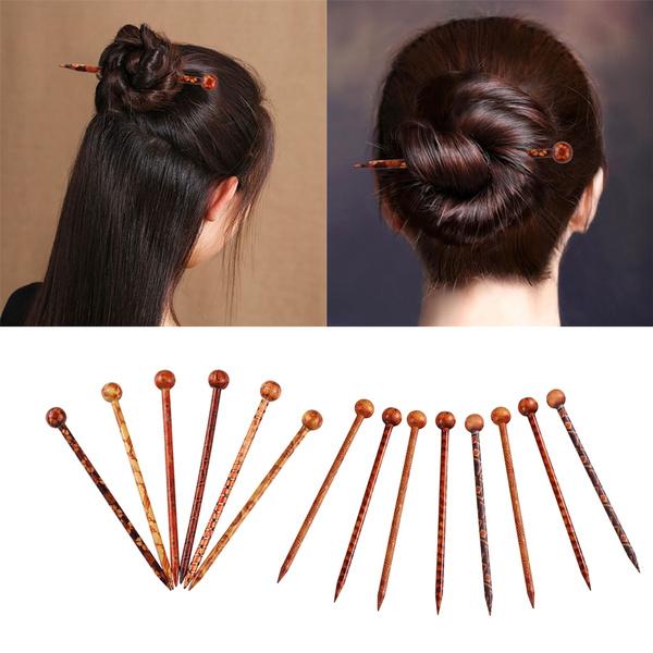 Wooden Wood Hair Stick Pin
