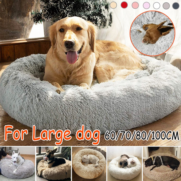 Marvelous Deluxe Fluffy Extra Large Dog Beds Sofa Washable Round Dog Pillow Cushion Pet Bed For Large Extra Large Dog Theyellowbook Wood Chair Design Ideas Theyellowbookinfo