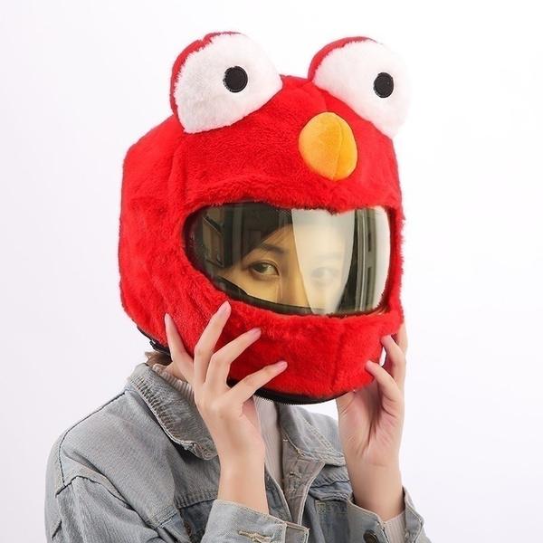 Red Moto Helmet Cover for Motorcycle Helmet Fun Rides Helmet Not Included