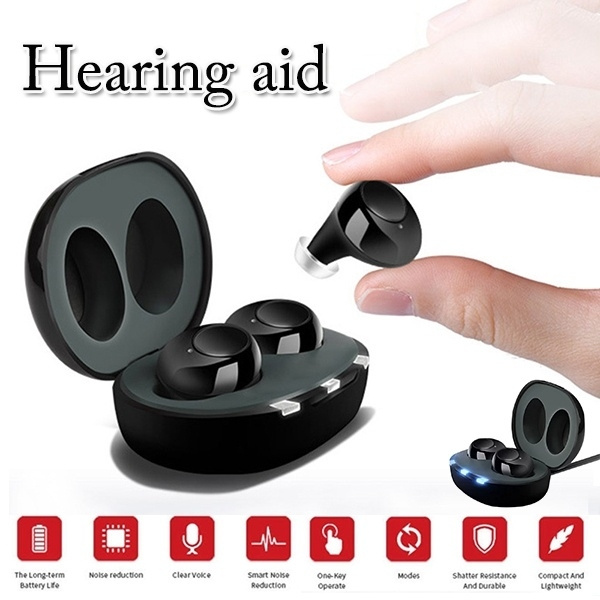 Best Hearing Aids 2020.2020 The Future Standard Cic Deep Ear Canal Black Binaural Charging Mini Inner Ear Invisible Hearing Aid Best Sound Amplifier Adjustable Wireless