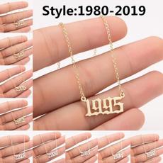 Steel, Jewelry, Chain, birthdaynecklace