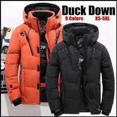 Stand Collar, wintercoatformen, hooded, Invierno
