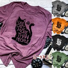 Summer, summer t-shirts, Cotton T Shirt, letter print