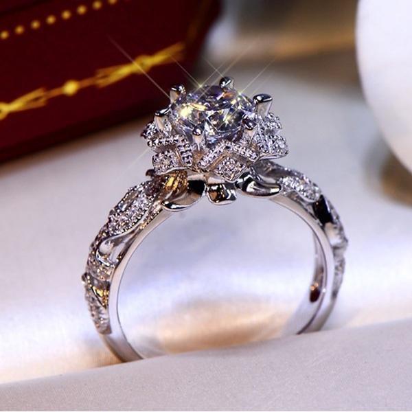 Sterling, DIAMOND, Women Ring, 925 silver rings