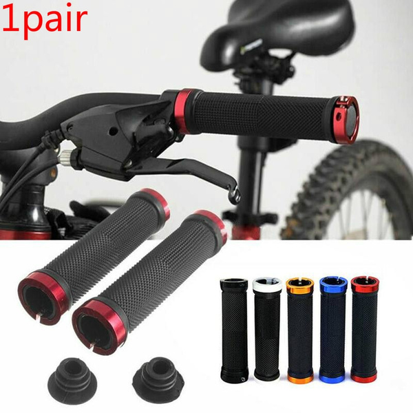 1 Pair Double Lock-on Mountains Bike Bicycle Cycling Handle Bar Cyclist Grips BE