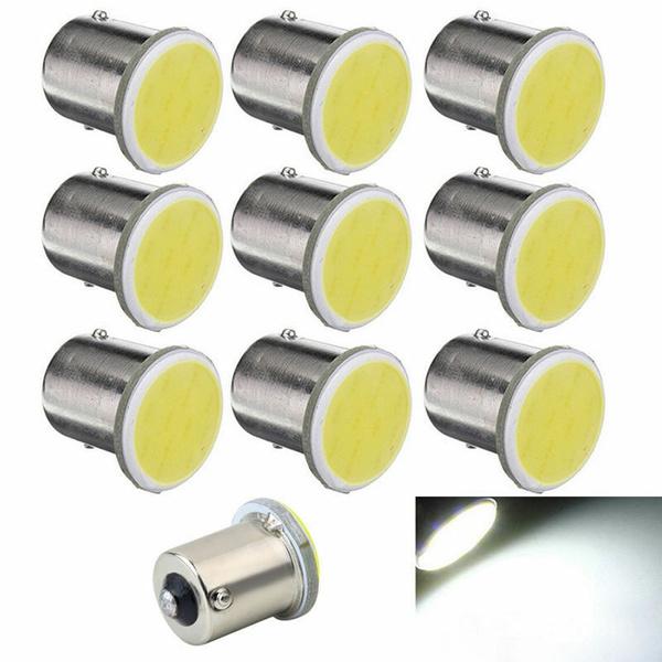 10Pcs 1156 BA15S P21W Led Car White LED 1156 Lamp COB 12 SMD 12V Voltage