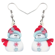 christmasaccessorie, Fashion, snowmanearring, party decorations