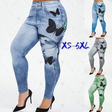 butterfly, Plus Size, fauxjegging, pants