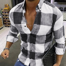 plaid shirt, plaid, Dress Shirt, long sleeved shirt