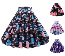 retroskirt, retro style, high waist, swingskirt