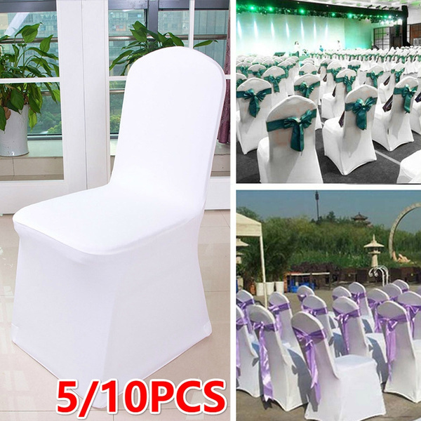 Phenomenal 5 10Pcs Universal Stretch Polyester Spandex Chair Cover For Party Weddings Banquet Hotel Decoration Gmtry Best Dining Table And Chair Ideas Images Gmtryco