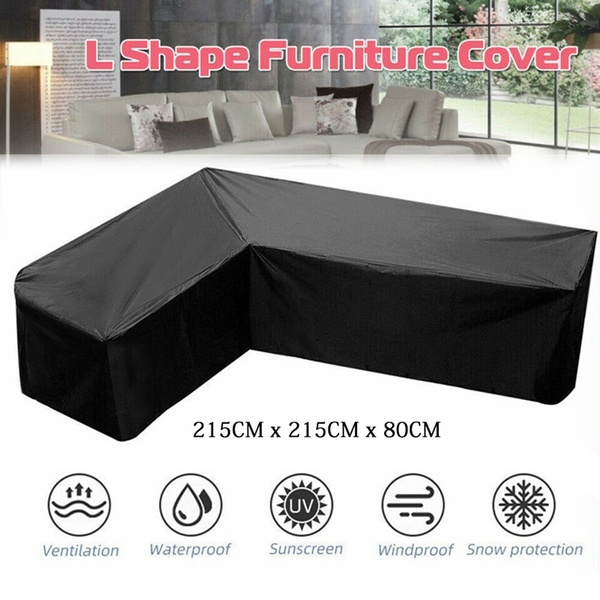 L Shape Rattan Corner Sofa Couch Covers Waterproof Outdoor Furniture Protector !