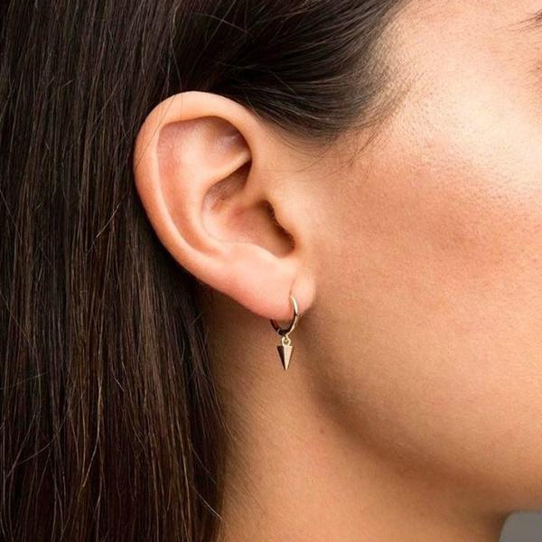 huggieearring, spikeearring, Hoop Earring, Jewelry