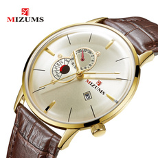 Fashion, gold, leather strap, Men