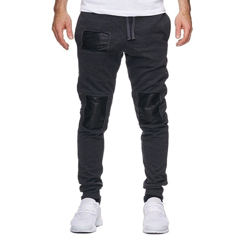 Men's Fashion Casual Leather Sports Pants
