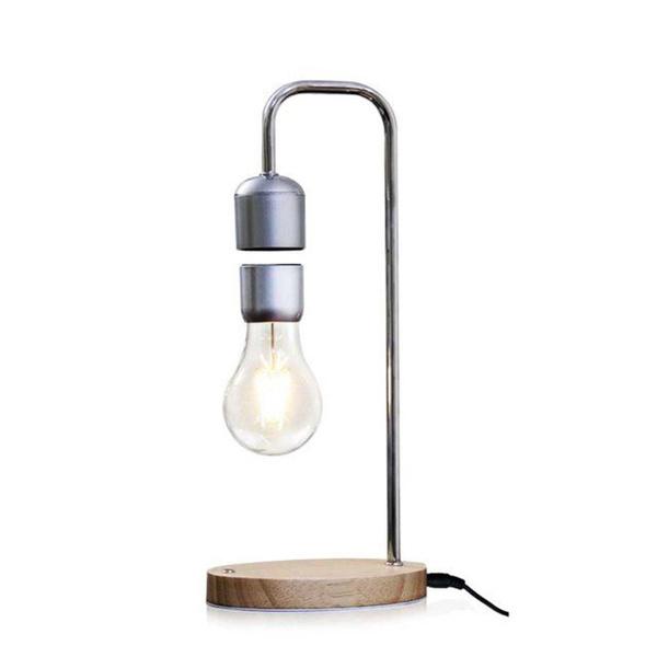 Levitating Lamp Table Light Unique Bulb Magnetic Floating Desk Lamp Floating Floating Lamp Light Gift Grain Magnetic Wood QWrEBoedCx