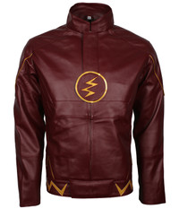 The Flash Series,Decrum Grant Gustin,Barry Allen Real Leather Jacket