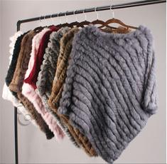 womensponcho, Fur scarf, Fashion, fur