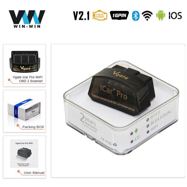 Vgate® iCar 3 ELM327 WiFi V3.0 OBD2 Diagnostics Scanner ANDROID iOS iPHONE iPAD