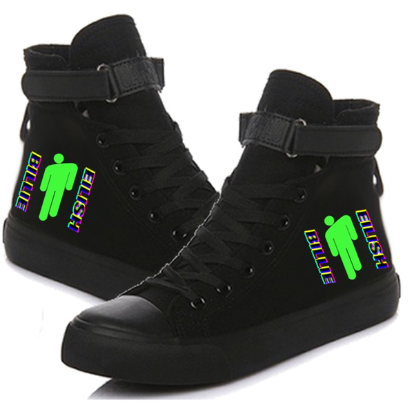 ny ankomst Fabriks Outlet ny produkt Billie Eilish Tour Printed High Top Canvas Shoes Sneakers | Wish