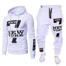 Fashion, Hoodies, letter print, pants