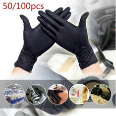 noir, gantdemaquillage, antistatique, Silicone