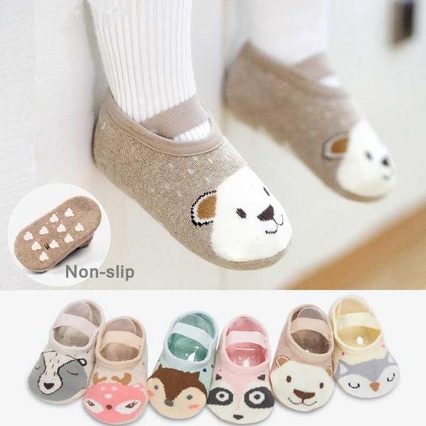 Newborn Baby Boys Girls Cartoon Animal Floor Socks Anti-Slip Baby Child Socks