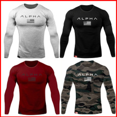 Exterior, letter print, Fitness, muscleshirt