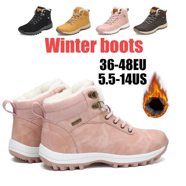 Womens Mens Winter Boots Snow Boots Cotton Shoes Non slip Waterproof Ankle Boots Warm Gefüttert Winterschuhe Plus Size 36 48
