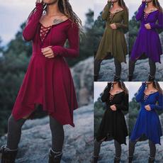GOTHIC DRESS, Plus Size, Lace, Long Sleeve
