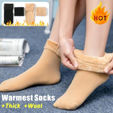 Cotton Socks, velvet, Winter, thermalsock