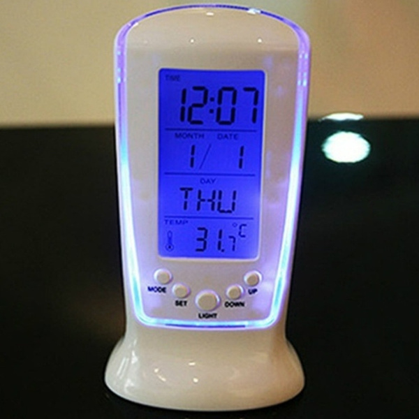 led, thermometerclock, clectronicalarmclock, Home & Living