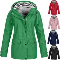 windproofjacket, Outdoor, solidcoat, Long Coat
