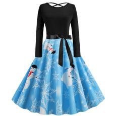 Swing dress, long sleeve dress, Sleeve, long dress