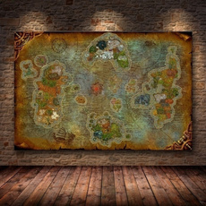 canvasprint, art, Home Decor, mappainting