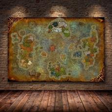 canvasprint, art, Home Decor, mappainting