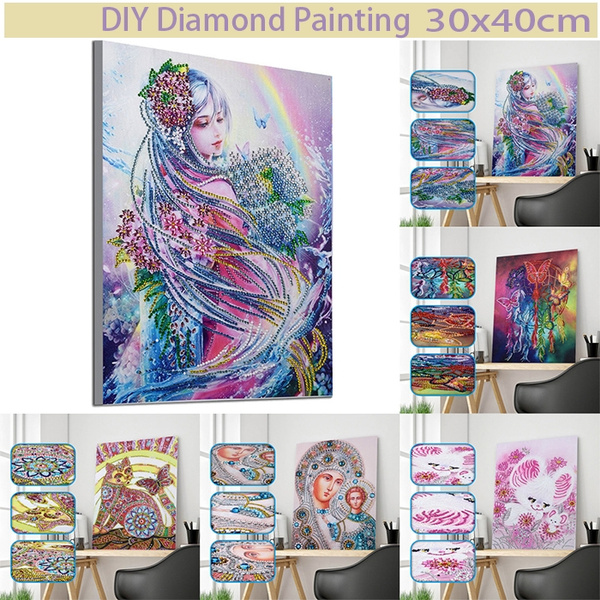 DIY 5D Diamond Painting Kits for Adults Full Drill Tree Diamond Painting Rhinestone Embroidery Pictures Cross Stitch Arts Crafts for Living Room Home Wall Decor 30x40cm