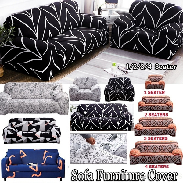 Home Fashion Designs Sofa Cover High Stretch Slipcover Machine Washable Furniture Protector All Inclusive Cover 1 2 3 4 Seaters Wish