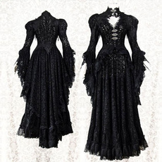 Goth, Fashion, Lace, Long Sleeve