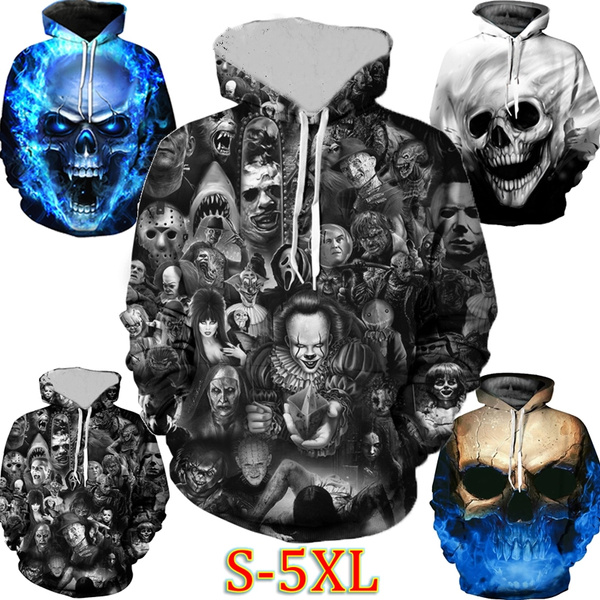 Couple Hoodies, 3D hoodies, Plus Size, skull