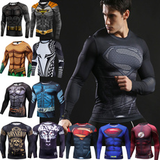 mensportswear, batmantshirt, Superhero, Shirt