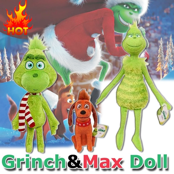 New Grinch Dolls Grinch Plush Toy Christmas Decoration Grinch Green Monster Doll Max Doll How The Grinch Stole Christmas Dolls