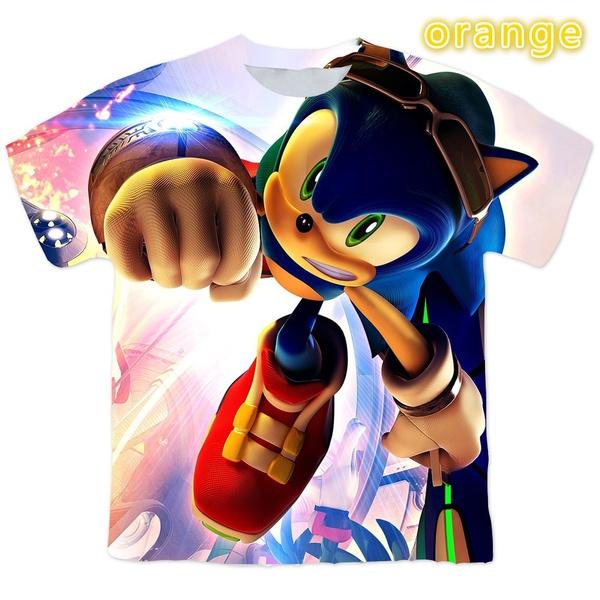 sonic, Shorts, Shirt, Sleeve