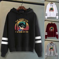 myheroacademia, stripedhoodie, pullover hoodie, Long Sleeve